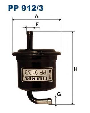 PP9123 Фильтр топливный SUZUKI LIANA/WAGON R+ 1.3/1.6