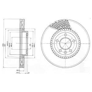 BG9892 Диск тормозной VW MULTIVAN/TRANSPORTER V 1.9-3.2 03- передний D=333мм.