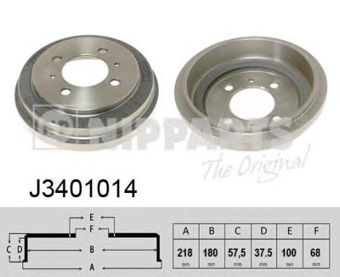 J3401014 Барабан тормозной NISSAN ALMERA N15/SUNNY III