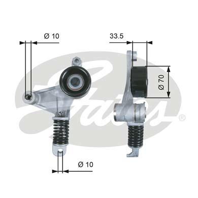 T38453 Натяжитель ремня приводного TOYOTA CAMRY/AVENSIS 2.0/2.4 00-