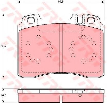 GDB1318 Колодки тормозные MERCEDES W124/W210/R129 87-02 передние