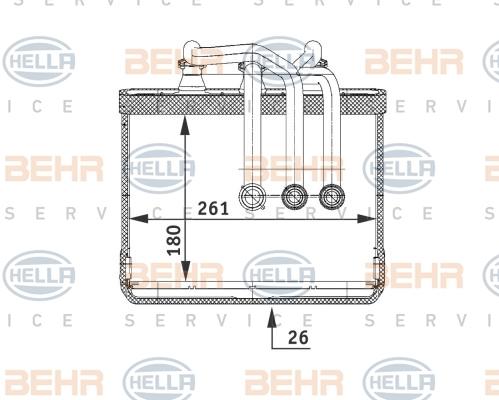 8FH351311211 Радиатор отопителя BMW: 7 (E65, E66) 730 Ld/730 d/730 i,Li/735 i,Li/735i/740 d/740 i,Li/745 d/745 i,Li/750 i,Li/760