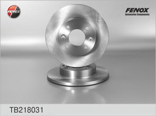 TB218031 Диск тормозной RENAULT LOGAN/SANDERO передний не вент.D=259мм.