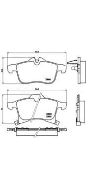 P59045 Колодки тормозные OPEL ASTRA G/H/ZAFIRA A передние