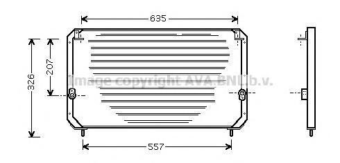 TO5202 Радиатор кондиционера TOYOTA: CARINA E (_T19_) 1.6 (AT190)/1.6 16V/1.6 GLI (AT190)/1.8 (AT191)/2.0 D (CT190)/2.0 GLI (ST1