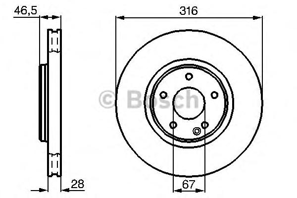 0986478625 Диск тормозной передн MERCEDES-BENZ: C-CLASS (W202) C 36 AMG (202.028) 93-00, CLK (C208) 430 (208.370) 97-02, CLK каб