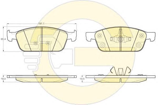 6120092 Колодки тормозные FORD KUGA 12-/TRANSIT CONNECT 13- передние