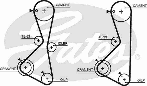 5373XS Ремень ГРМ MITSU GALANT 2.0 92-96/L200 2.0 96-/SPACE WAGON 2.0 92-98 (123x29)