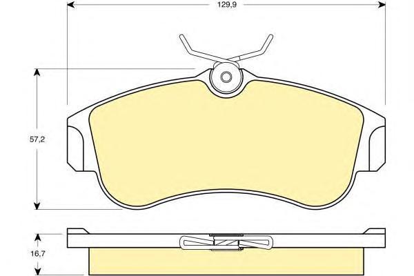 6132711 Колодки тормозные NISSAN ALMERA 00/PRIMERA 9303 передние