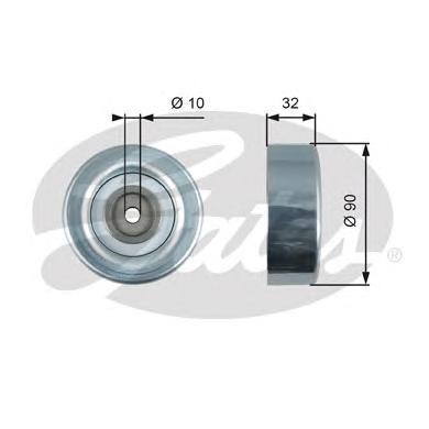 T36495 Ролик ремня приводного HYUNDAI TERRACAN 01-/KIA SORENTO/MITSUBISHI COLT/LANCER