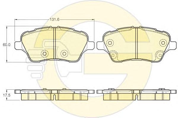 6119593 Колодки тормозные FORD B-MAX/FIESTA 12-/TRANSIT COURIER 14- передние