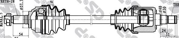 251013 Привод в сборе LAND ROVER FREELANDER 1.8-2.5 00-06 пер.лев./прав.