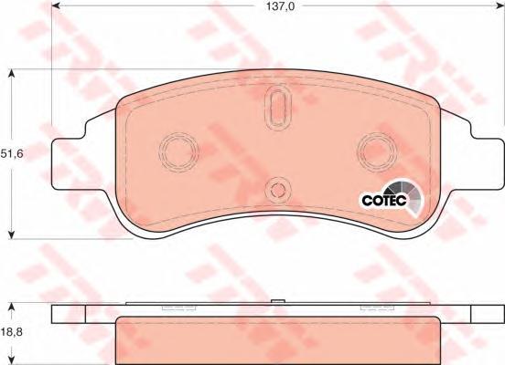 GDB1563 Колодки тормозные CITROEN BERLINGO/C4/XSARA/PEUGEOT PARTNER передние