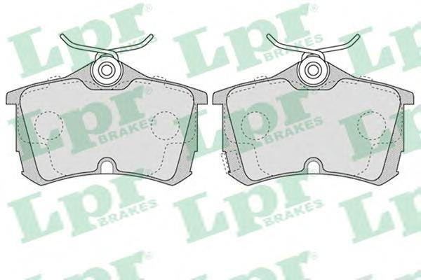 05P1037 Колодки тормозные HONDA ACCORD 2.0/2.2/2.4 98 задние