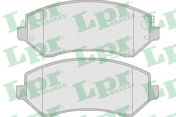05P1005 Колодки тормозные дисковые передн CHRYSLER: VOYAGER III 00-,  JEEP: CHEROKEE 01-