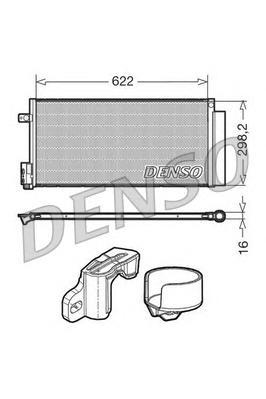 DCN13110 Радиатор кондиционера ALFA ROMEO: MITO (955) 1.4 TB/1.6 JTDM 08 -  LANCIA: DELTA III (844) 1.4/1.6 D Multijet/2.0 D Mul