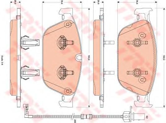 GDB1884 Колодки тормозные AUDI A8 3.0-4.2 (1LJ) 09- передние