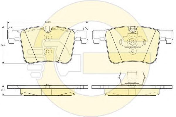 6119422 Колодки тормозные BMW 1 F20/3 F30/X3 F25 10- передние