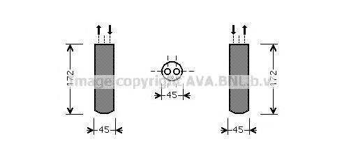 MZD185 Осушитель кондиционера MAZDA 3/5 1.6/2.0 03-