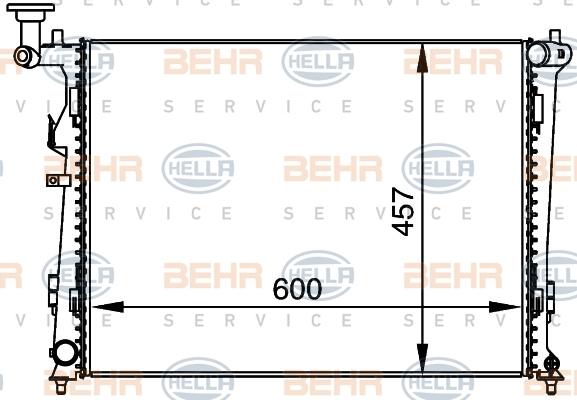 """8MK376764451 Радиатор HYUNDAI i30 / KIA CEE""""D 1.4-2.0 07-"""
