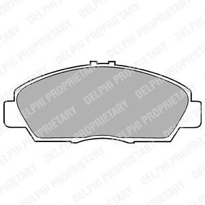 LP869 Колодки тормозные дисковые, комплект