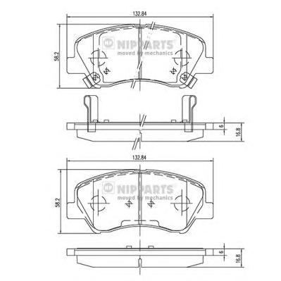 N3600550 Колодки тормозные HYUNDAI SOLARIS 10-/KIA RIO 11- передние