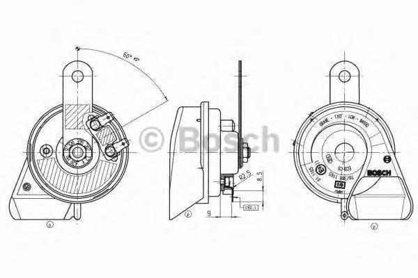 9320335207 Сигнал звуковой EC9-C 12V 60W 420Hz Black