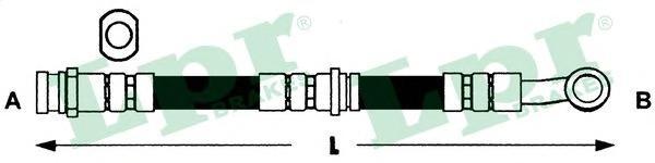 6T46437 Шланг торм M10x1x550пер.прав.VITARA 88-97