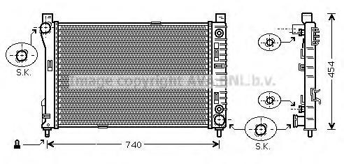 MSA2286 Радиатор системы охлаждения MERCEDES-BENZ: C-CLASS (W203) C 180 (203.035)/C 180 Kompressor (203.046)/C 200 CDI (203.007)
