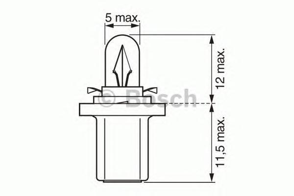 1987302514 Лампа Trucklight 1,2 W 24 V B8,5d