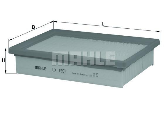 LX1997 Фильтр воздушный CHEVROLET AVEO 1.2-1.6 11-