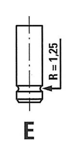 R4231RCR Клапан двигателя Citroen. Peugeot 1.1-1.4 86  29.5x7x112.5 EX