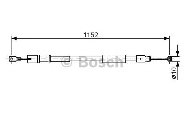 1987482025 Трос ручного тормоза MB W639 1152мм