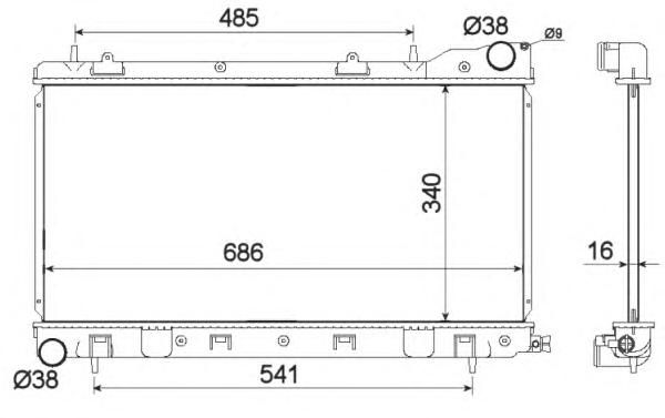 53595 Радиатор SU Forester МКПП 98-