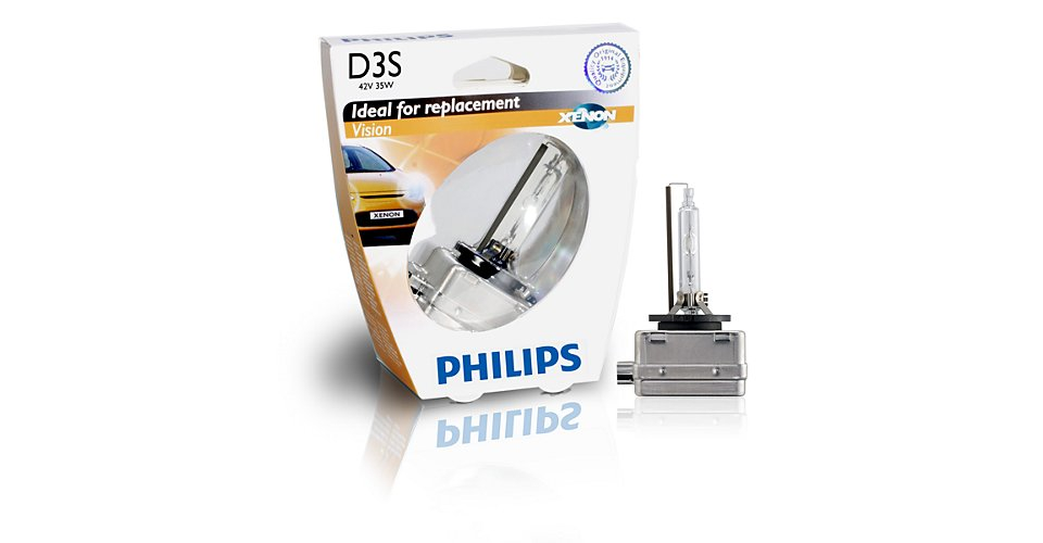 42403VIS1 Лампа ксенон D3S 42403 Vision 42V 35W PK32d-5евробокс 1 шт.