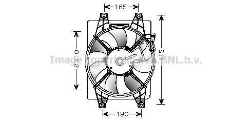 hy7523 Вентилятор, охлаждение двигателя