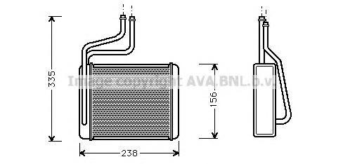 FD6286 Радиатор отопителя FORD: COUGAR (EC_) 2.0 16V/2.5 ST 200/2.5 V6 24V 98 - 01 , MONDEO II (BAP) 1.6 i/1.6 i 16V/1.8 TD/1.8