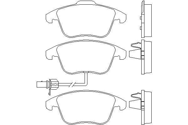 8K0698151F Колодки тормозные дисковые передние / AUDI A-4,5 08~