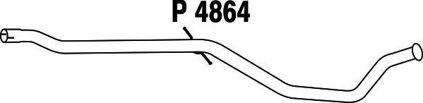 P4864 Трубопровод выпускной PEUGEOT 407 2.0 05-