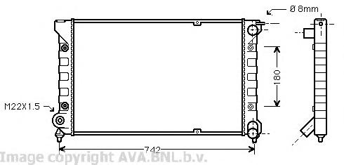 VWA2041 Радиатор VAG G2 1.6/1.8/1.6TD 84-93