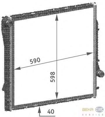 8MK376718754 Радиатор BMW E53 4.4-4.8/3.0D 00-04