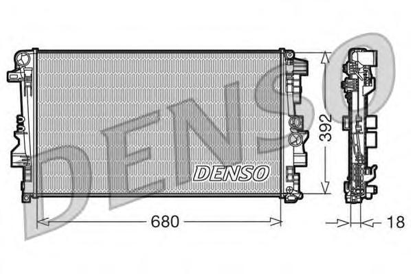 DRM17012 Радиатор системы охлаждения MERCEDES-BENZ: VIANO (W639) 3,0/3.2/CDI 2.0/CDI 2.0 4-matic/CDI 2.2/CDI 2.2 4-matic 03 - ,