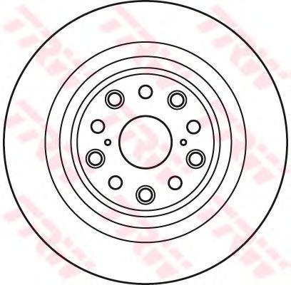DF6038S Диск тормозной LEXUS LS460-600 задний левый вент.D=335мм.