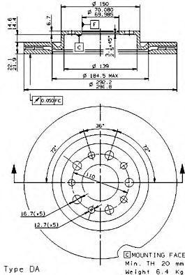 09936610 Тормозной диск