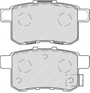 FDB4198 Колодки тормозные HONDA ACCORD 2.0-2.4 МКПП 08- задние