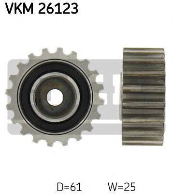vkm26123 Паразитный / Ведущий ролик, зубчатый ремень