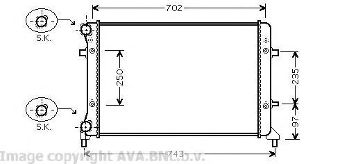 VW2204 Радиатор VAG A3/A5/OCTAVIA/G5/PASSAT 1.4-2.5/2.0D 03-/05-