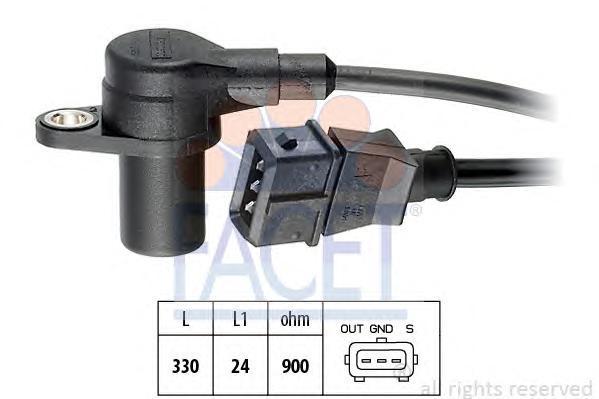 90090 Датчик положения коленвала CITROEN: BX (XB-_) 19 GTi 16V 82-94, ZX (N2) 1.9/1.9 i 91-97  HYUNDAI: S Coupe (SLC) 1.5 i/1.5