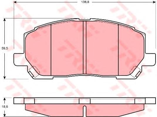 GDB3286 Колодки тормозные LEXUS RX300 00-01 передние