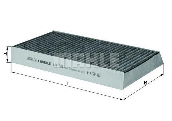LAK684 Фильтр салона RENAULT MEGANE 1.2-2.0 08- угольный